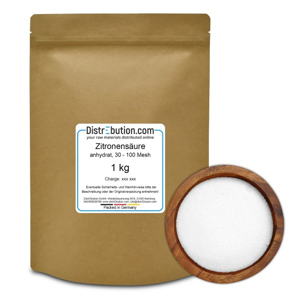 Zitronensäure anhydrat, 30 - 100 Mesh, 1 kg