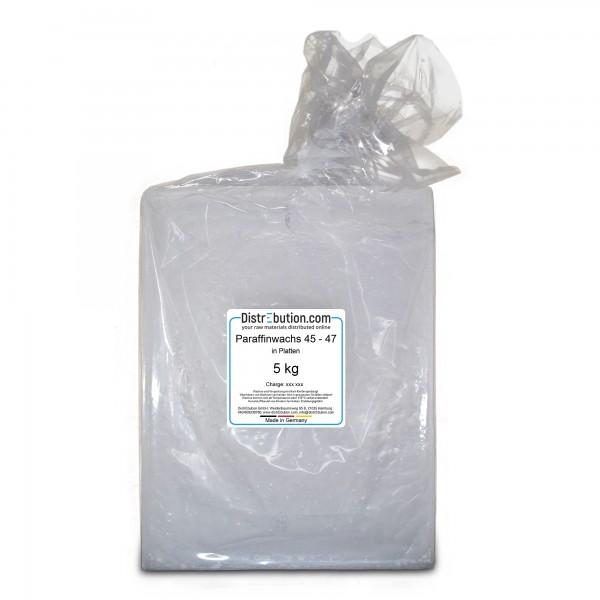Paraffinwachs 45 - 47°C, Platten, 5 kg