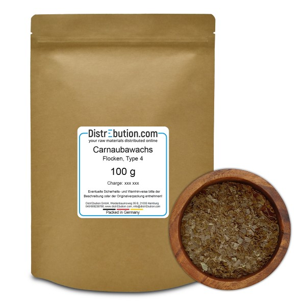 Carnaubawachs Type 4 fettgrau in Flocken (100 g)